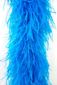 4 Ply Ostrich Feather Boa 2 Yards - TURQUOISE
