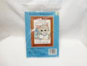 1994 Candamar Designs Love Me, Love My Cat 13cm x 18cm Counted Cross Stitch Kit