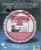Duck in Window Counted Cross Stitch Hoop Kit