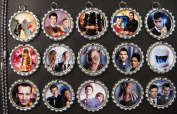 15 Doctor Who SILVER Bottle Cap Pendant Necklaces Set 6