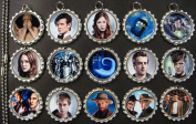15 Doctor Who SILVER Bottle Cap Pendant Necklaces Set 4