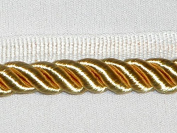1cm Twisted Lip Cord Trim Yellow Gold 5 Yards - T2370