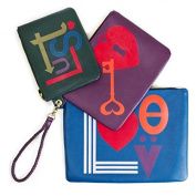 Johnathan Adler Love Lust Triple Pouch Set Green / Blue / Multi