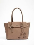 Guess Marcia Taupe Beige Satchel Bag VY472306