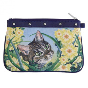 Cat In Flowers Joy Wristlet
