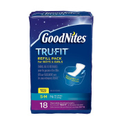Huggies GoodNites TruFit Refill Disposable Absorbent Inserts for Boys & Girls Size Small Medium 18 Count