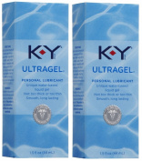 K-Y KY Ultra Gel Personal Lube Lubricant 1.5 oz (44 ml) Lot of 2