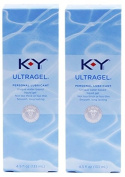 K-Y KY Ultra Gel Personal Lubricant Pack of 2 @ 4.5 oz (133 ml) each