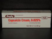 Rugby Capsaicin Cream 0.025% Arthritis Pain Relief. Zostrix) 60g Tube