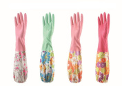 Wowlife One Pair Colourful Finger Premium Waterproof Gloves - Latex-Free PVC Reusable Durable Gloves - Dishwashing Gloves - Household Housework Gloves Warm Gloves with Wowlife's Mobile Bag Gift