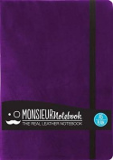 Monsieur Notebook Leather Journal - Purple Plain Medium