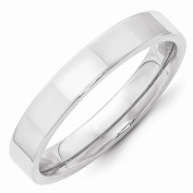 Perfect Jewellery Gift 14KW 4mm Standard Flat Comfort Fit Band Size 6