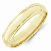 Top 10 Jewellery Gift 10KY 5mm Half Round with Edge Band Size 6.5