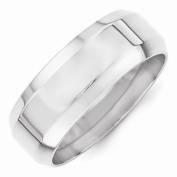 Perfect Jewellery Gift 14KW 8mm Bevel Edge Comfort Fit Band Size 12.5