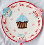 """HOME SWEET HOME"" Cupcake & Cookie Party Serving Plate"