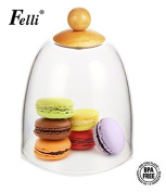 (Multi-function Servingware) 13cm Mini cake cover, adorable cute shape. Practical small size. Made forom Acrylic and wood.