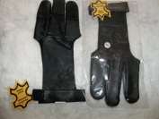 """Traditional Leather""""goat Skin"""" Archery Glove-damascus-black-$13.99 Delivered-lg"""