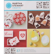 Plaid:Craft Martha Stewart Medium Stencils 2 Sheets/Pkg-Holiday Icons 22cm x 25cm 37 Designs