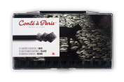 Conté à Paris 12 Count 2B Sketching Crayons Set, Black