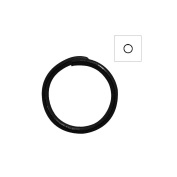 About 420pcs Zacoo Open Jump Rings Shape Round Colour Black 8x8x0.7 Outside Diameter 8mm