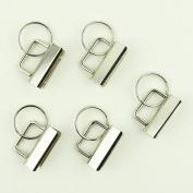 100 Sets - 3.2cm (3.2cm ) - Key Fob Hardware/Key Chain/Wristlet Sets with Split Rings/Key Rings