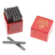 36 Piece Letter & Number Punch Set For Stamping Metal 1/8 Inch 3mm