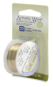 Artistic Wire 22S Gauge Wire, Gold Colour, 8-Yard