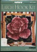 Natura Latch Hook Rug Kit #Q601 - Framed Rose