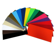 Craft E Vinyl - 30cm x 60cm - 40 Sheets Assorted Matte Colours of Removable Adhesive Backed Vinyl for Cricut Cutters, CraftROBO Cutters, Pazzles Cutters, QuicKutz Cutters - CEV2300