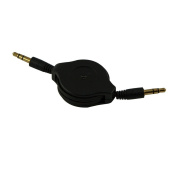 Fullink Black 3.5mm Male to male Stereo Audio Retractable Extension Cable 0.9m