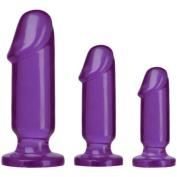 Doc Johnson Crystal Jellies Anal Starter Kit, Purple