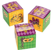 Mardi Gras Party Favour Miniature Boxes - 24 pcs