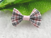 50pcs Mini Grosgrain Ribbon Plaid Bow Flowers the Wedding Decoration Appliques