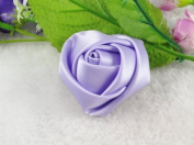 10pcs Big Satin Ribbon Rose Flower DIY Craft Appliques U Pick 45mm