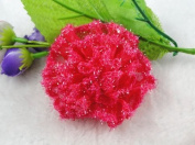 12pcs Organza Cabbage Rose Flower Appliques Sewing Pick Colour
