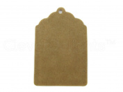50 CleverDelights Small Kraft Gift Tags - 5.7cm x 3.8cm inch - Scalloped Hang Tags - For Gifts, Crafts, Party Favours, Price Tags - Thick Heavy Duty