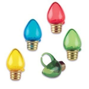 Oasis Supply Christmas Light Bulb Jewel Cupcake/Cake Decorating Rings, 6.4cm , Assorted, Set of 12