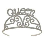 Beistle 60638 Glittered Metal Tiara, Queen