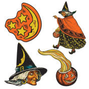 Beistle 4-Pack Halloween Cutouts, 17cm to 27cm
