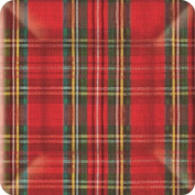 Ideal Home Range PEG209628801 8 Count Square Paper Plates, 25cm , Classic Red and Green Plaid Cheque