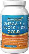 Omega-3 + CoQ10 + Vitamin D3 GOLD - 700 mg of Omega-3 Fish Oil with 2500 IU Vitamin D3 and 50 mg Kaneka Q10
