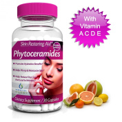 Phytoceramides 350 mg Capsules - An All Natural Organic For Healthy Skin and Hair Hydration Therapy With Collagen - Wrinkle Repair Rejuvenate Complex - Best Anti Ageing Supplement Full with Anti Oxidants, Plant Derived - With Vitamins A, C, D and E - F ..