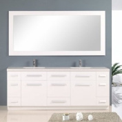 Design Element J84-DS-W Moscony 210cm Double Sink Vanity Set, White