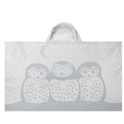 Breganwood Organics Kids Hooded Towel, Grey Owl, Prairie Collection