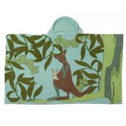Breganwood Organics Kid's Hooded Towel Sea Blue Kangaroo, Outback Collection