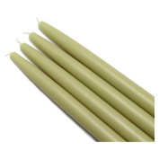 Zest Candle 12-Piece Taper Candles, 25cm , Sage Green