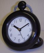 Shower Clock, Rope Clock, Water Resistant, Black, Quartz Movement