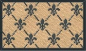 MILLIARD 'Fleur De Lis' Eco-Friendly Decorative Coco Coir 46cm x 80cm Doormat