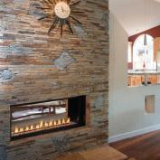 110cm Millivolt Linear Vent-Free NG Fireplace- Lights & Glass Pebbles