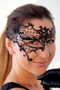 New Genuine Lady's Phantom Half Eye Mask with Elegant Diamonds For Venetian Masquerade Ball, Prom, Sweet 16 & Wedding Parties